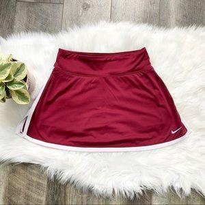 Nike Dri-Fit Tennis Skort Burgundy Skirt Small